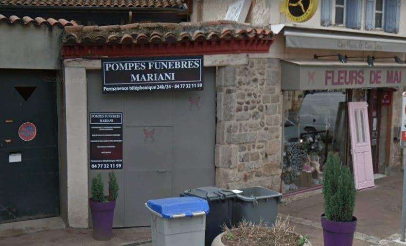 Photographie de la Pompes Funèbres Mariani à Saint-Marcellin-en-Forez