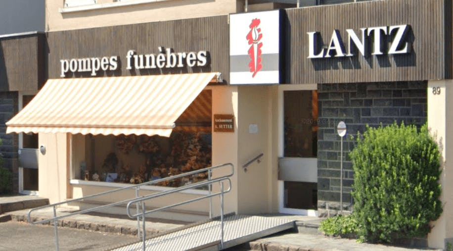Photographie de la Pompes Funèbres Lantz à Kingersheim