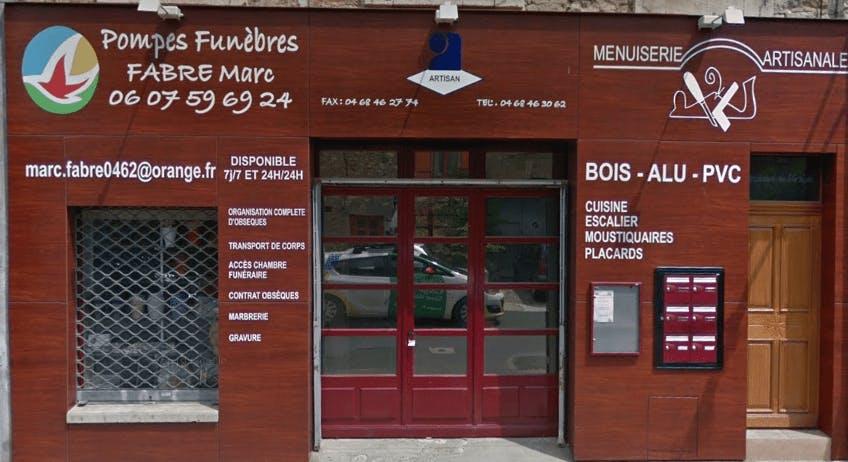 Photographie de la Pompes Funèbres Fabre Marc de la ville de Bize-Minervois