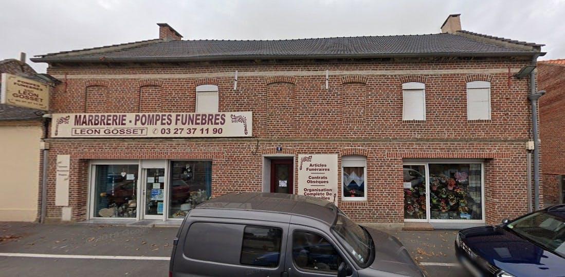 Photographies des Pompes Funèbres Marbrerie Gosset Léon à Avesnes-les-Aubert