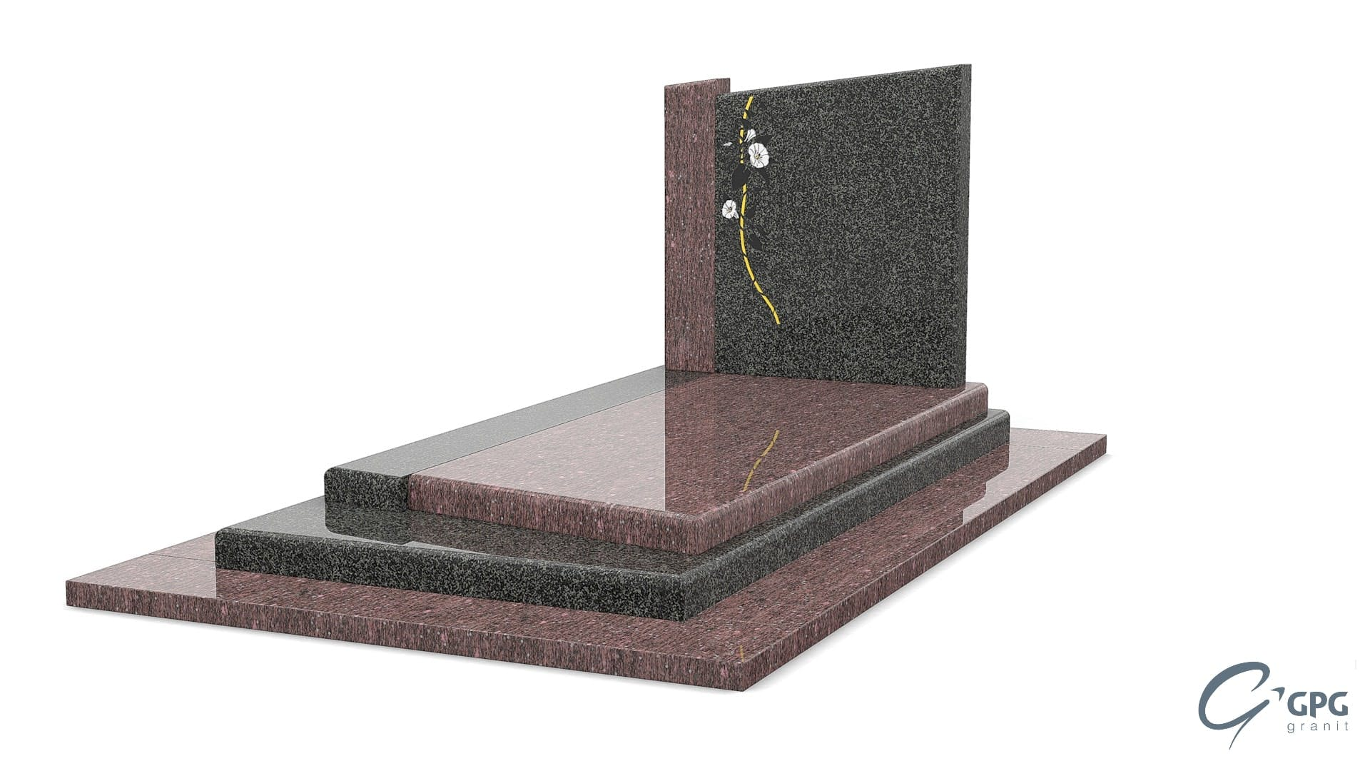 pierre tombale avec stele