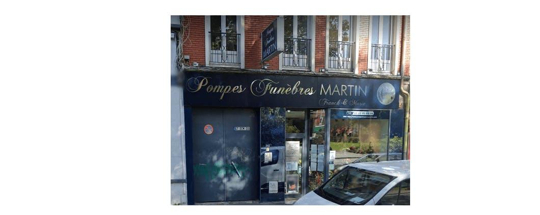Photographie de la Pompes Funèbres Martin à Lille