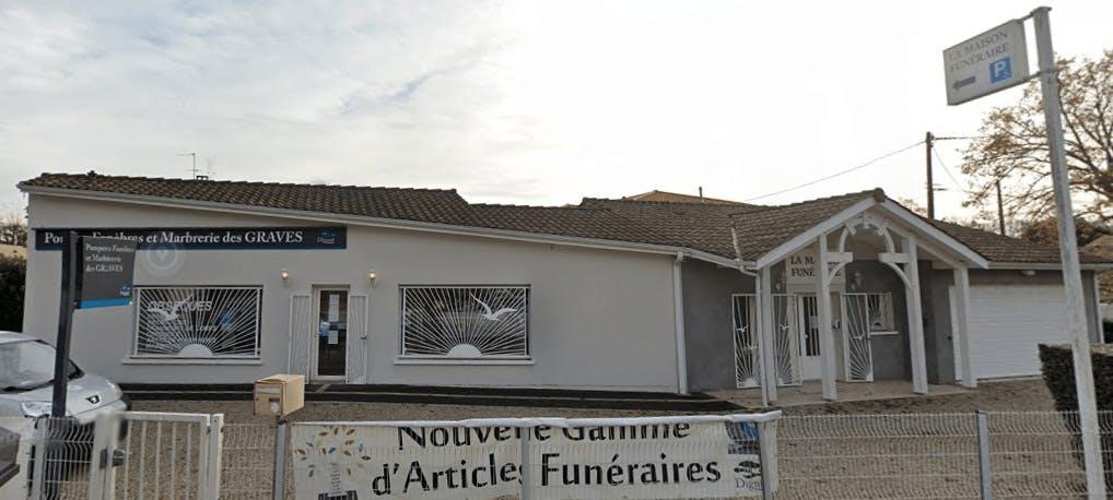 Photographie de la Pompes Funèbres et Marbrerie des Graves de la ville de Léogan
