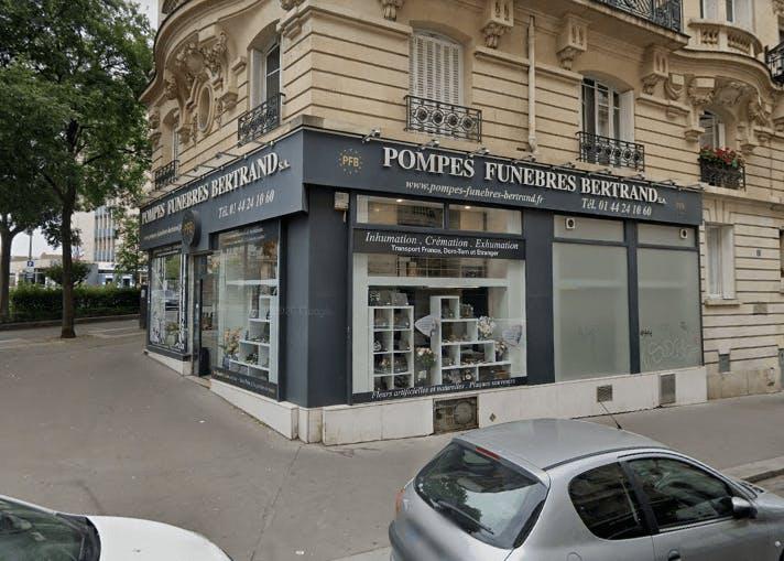 Photographie de la Pompes Funèbres Bertrand à Paris