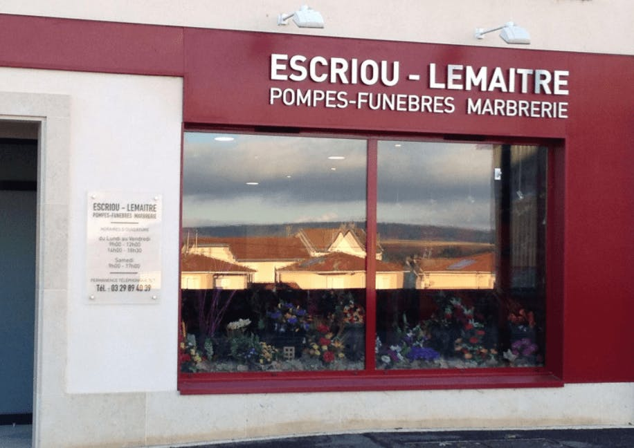Photographie de la Pompes Funèbres Marbrerie ESCRIOU de la ville de Vaucouleurs