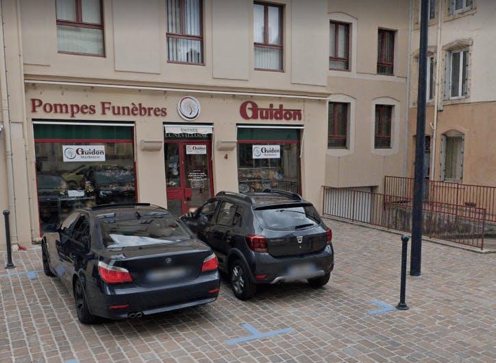 Photographie Pompes Funèbres Guidon de Lunéville