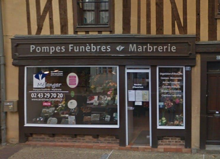 Photographies des Pompes Funèbres et Marbrerie Mélanger à Bonnétable