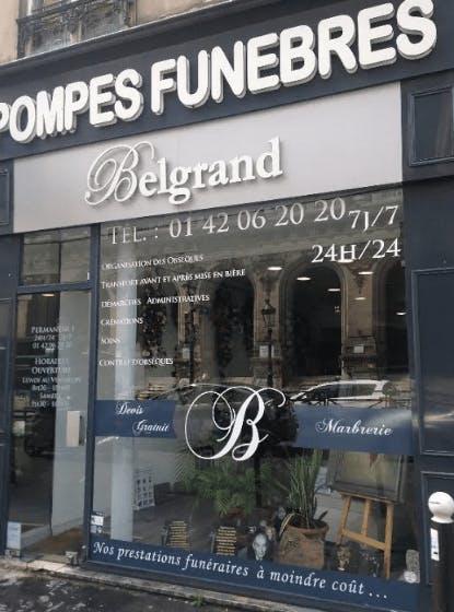 Photographie de la Pompes Funèbres Belgrand à Paris