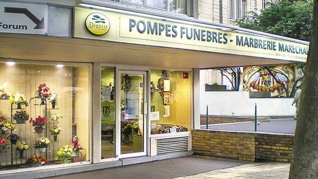 Photographies des Pompes Funèbres Marbrerie Maréchal à Colombes