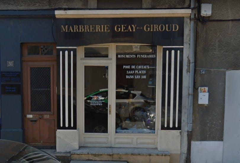 Photographie de la Marbrerie Geay Giroud  à Sainte-Foy-l'Argentière