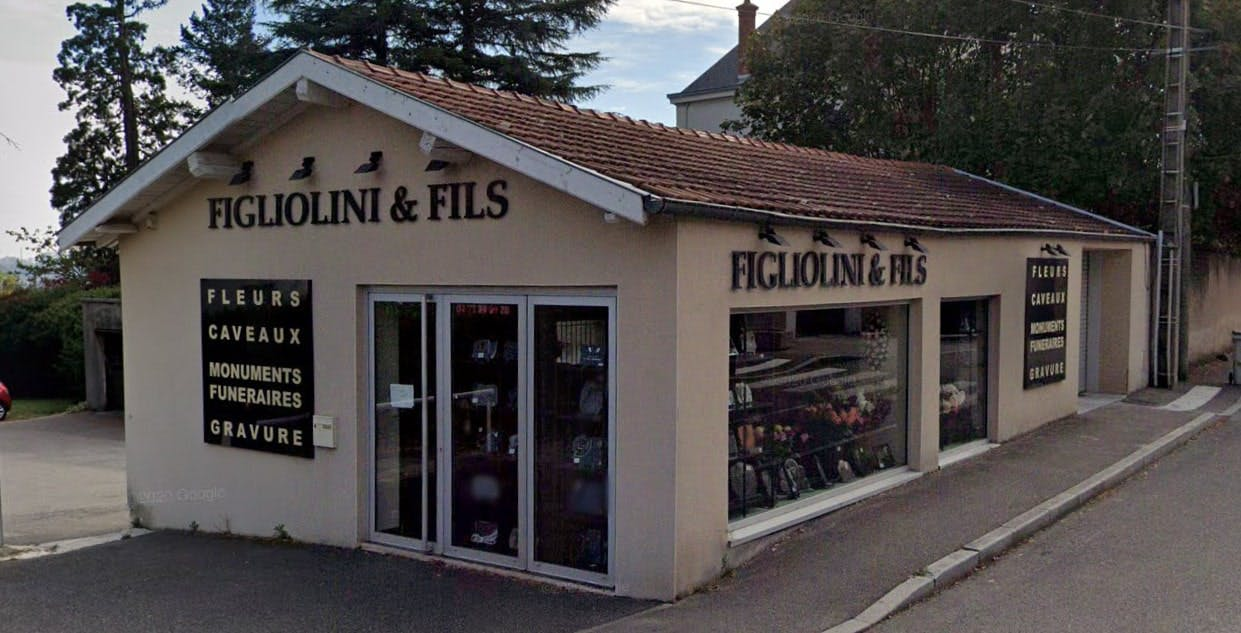 Photographies de la Marbrerie Figliolini et Fils à Pierre-Bénite