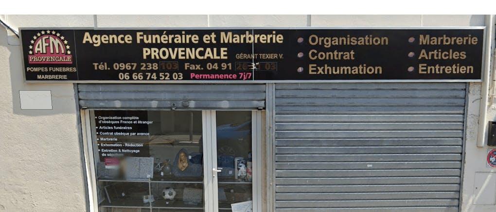 Photographie de la Pompes Funèbres Marbrerie Provençale à Marseille