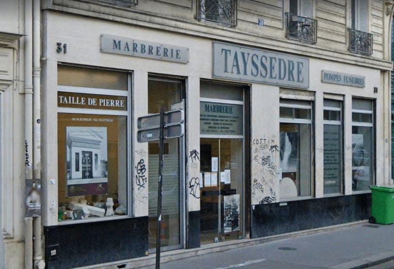 Photographie de la Pompes Funèbres et Marbrerie Rebillon-Tayssèdre à Paris
