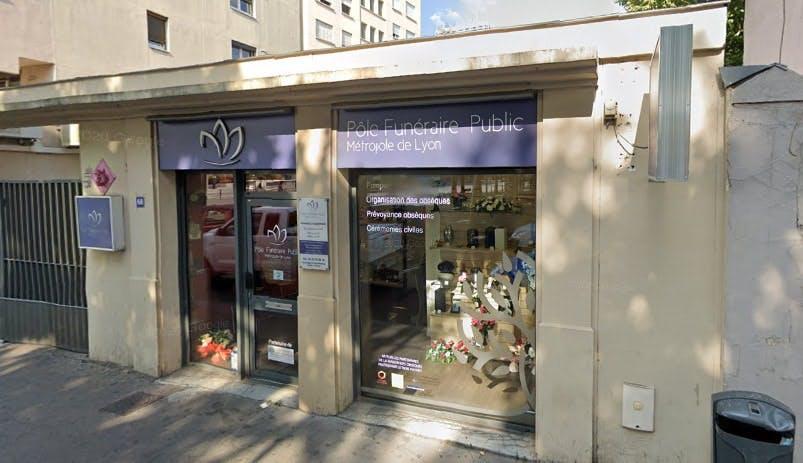 Photographie du Pôle Funéraire Public de la Métropole de Lyon