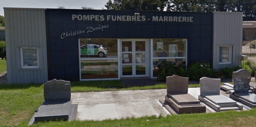 Photographie de la Pompes Funèbres et Marbrerie Denèque de la ville de Voves