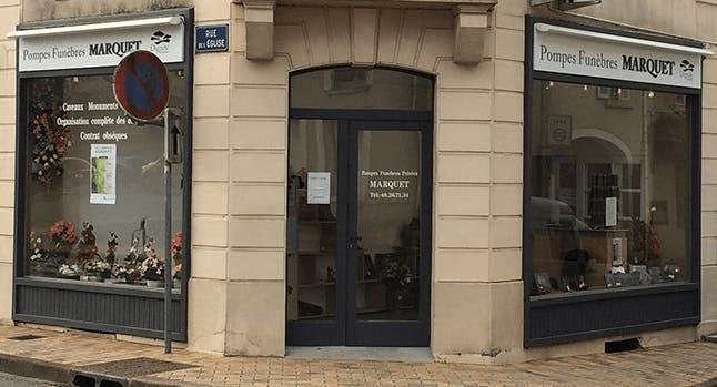 Photographie de la Pompes Funèbres et Marbrerie Marquet à Henrichemont