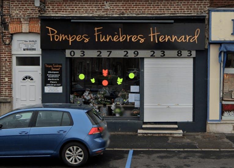 Photographie de la Pompes Funèbres Hennard à Raismes