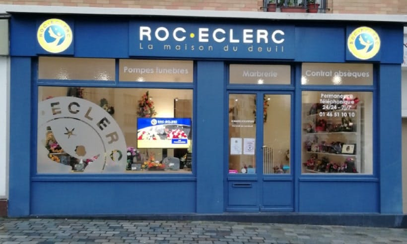 Photographies des Pompes Funèbres Roc'Eclerc à Paris