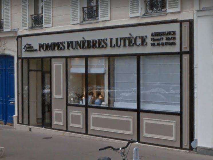 Photographie de la Pompes Funèbres Lutèce à Paris