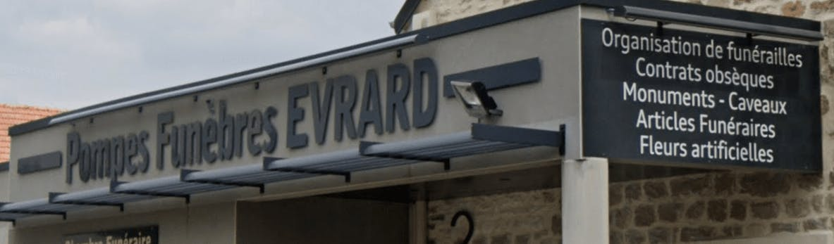 Photographie de la Pompes Funèbres Evrard de Montaigu