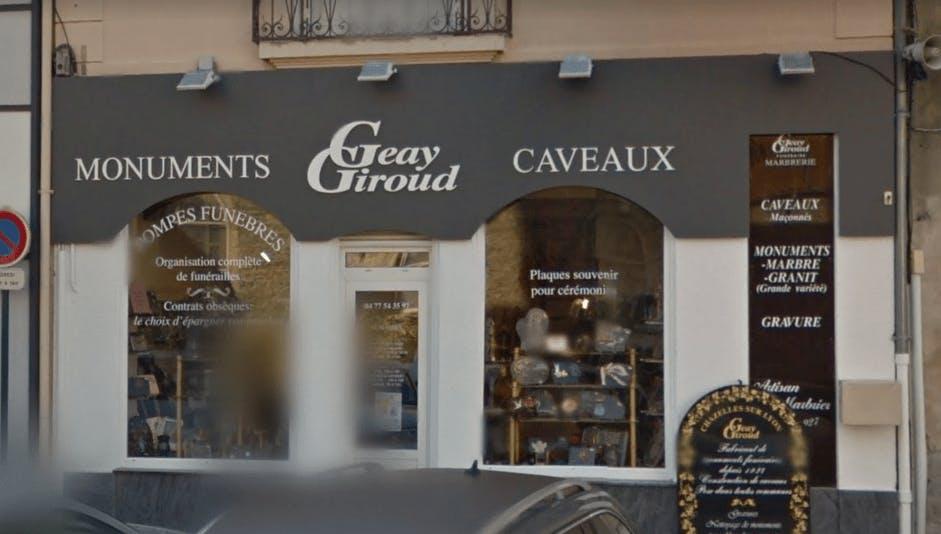 Photographie de la Marbrerie Geay Giroud à Chazelles-sur-Lyon