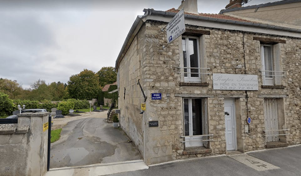Photographie de la Pompes Funèbres FEVAL de la ville de Fère-en-Tardenois