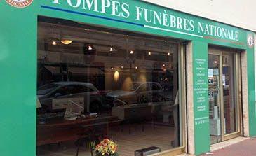 Photographie de la Pompes Funèbres Nationales à Grasse
