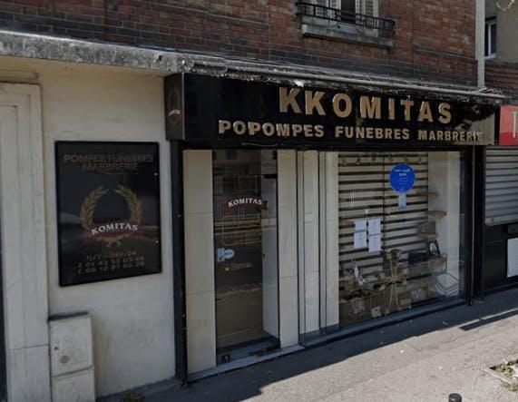 Photographie de la Pompes Funèbres Komitas à Alfortville