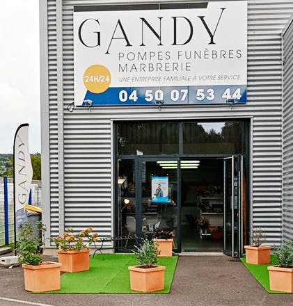 Photographie Gandy Pompes Funèbres Marbrerie de Contamine-sur-Arve
