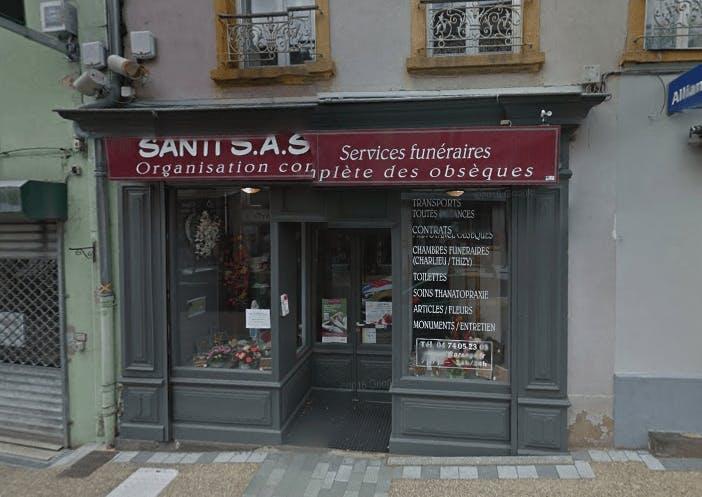 Photographie de la Pompes Funèbres Santi à Cours-la-Ville