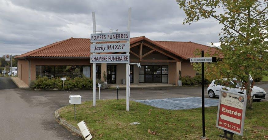 Photographie de la Pompes Funèbres Mazet à Saint-Galmier