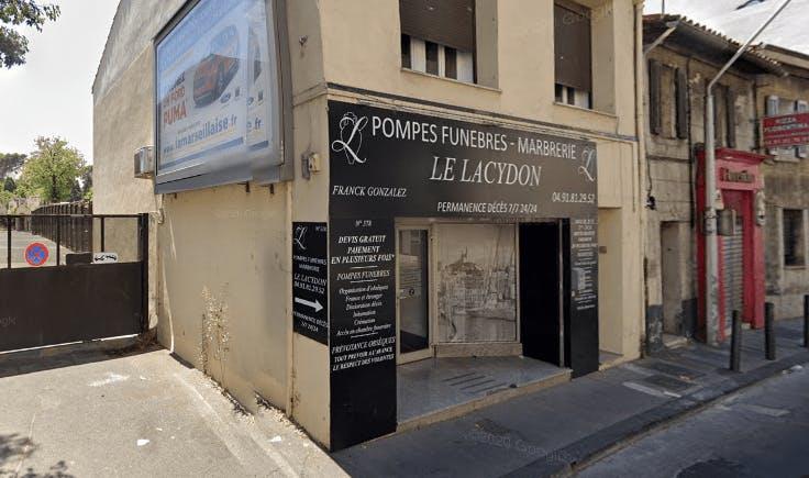 Photographie de la Pompes funèbres et marbrerie Le Lacydon à Marseille