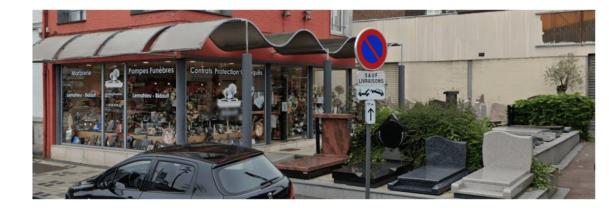 Photographie de la pompes funèbres BIDAULT à Lille