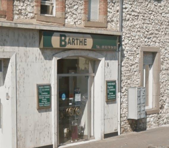 Photographie de la Pompes Funèbres Barthe à Carmaux