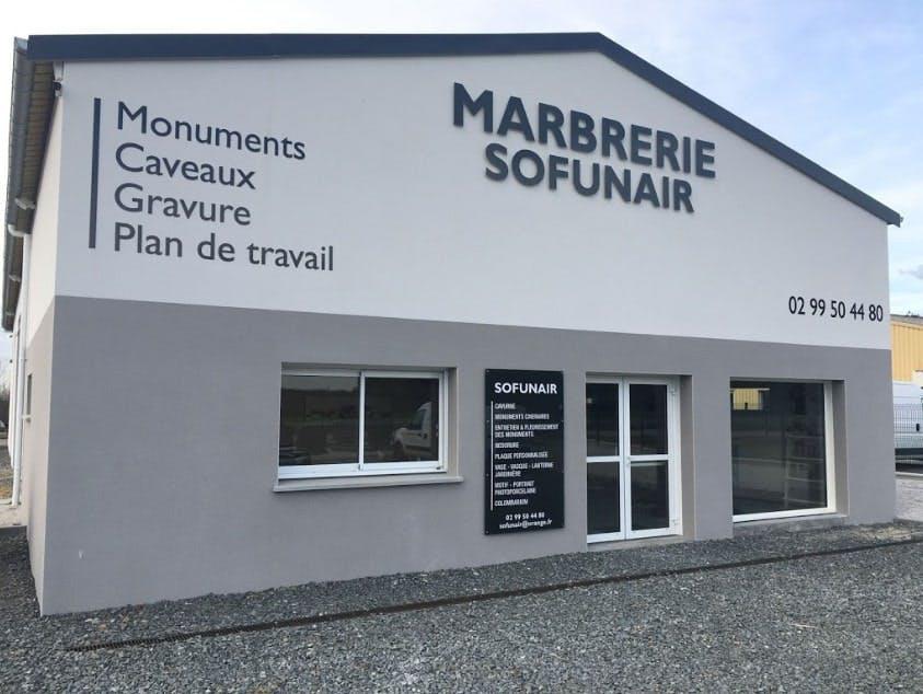 Photographies de la Marbrerie Sofunair à Andouillé-Neuville