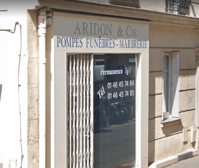 Photographie de la Pompes Funèbres et Marbrerie Aridon et Cie à Issy-les-Moulineaux
