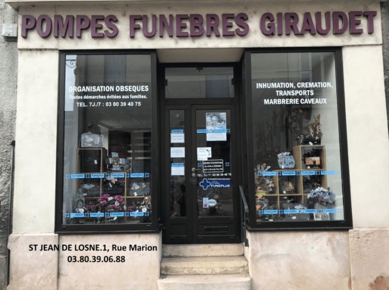 Photographie Pompes Funèbres Giraudet de Saint-Jean-de-Losne