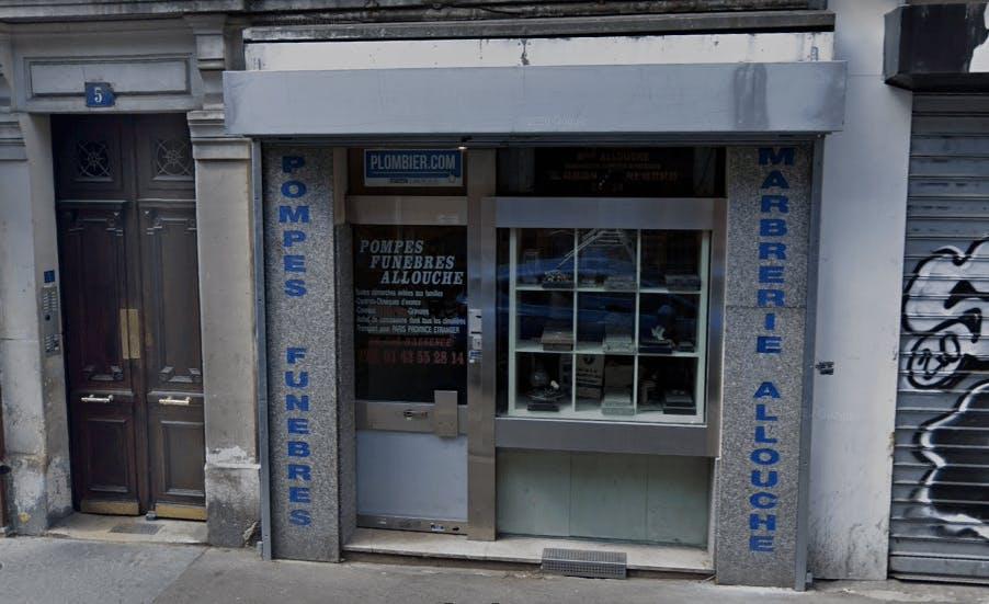 Photographie de la Pompes Funèbres Allouche à Paris