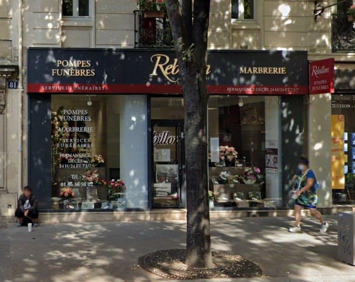 Photographies des Pompes Funèbres Marbrerie Rebillon à Paris