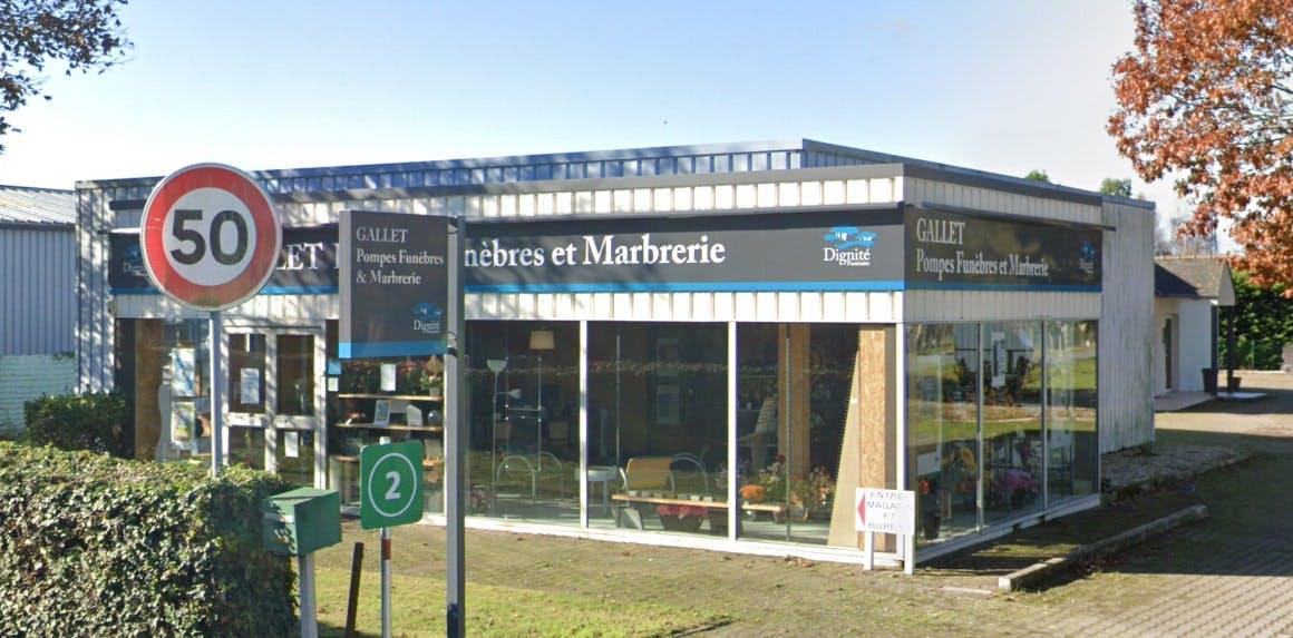 Photographies des Pompes Funèbres et Marbrerie Gallet à Dol-de-Bretagne