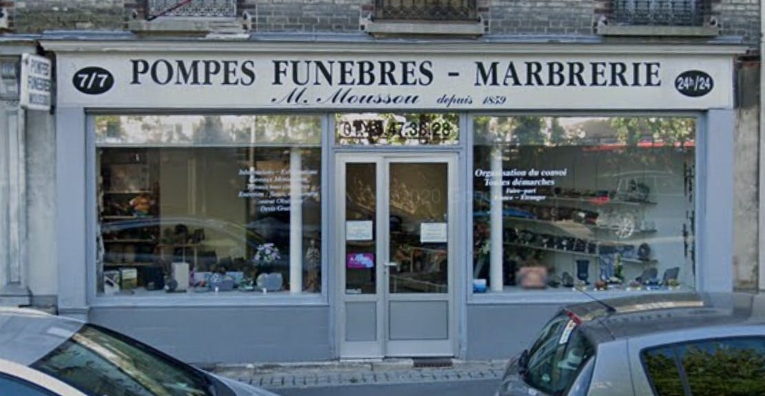 Photographies des Pompes Funèbres Marbrerie Moussou à Gentilly