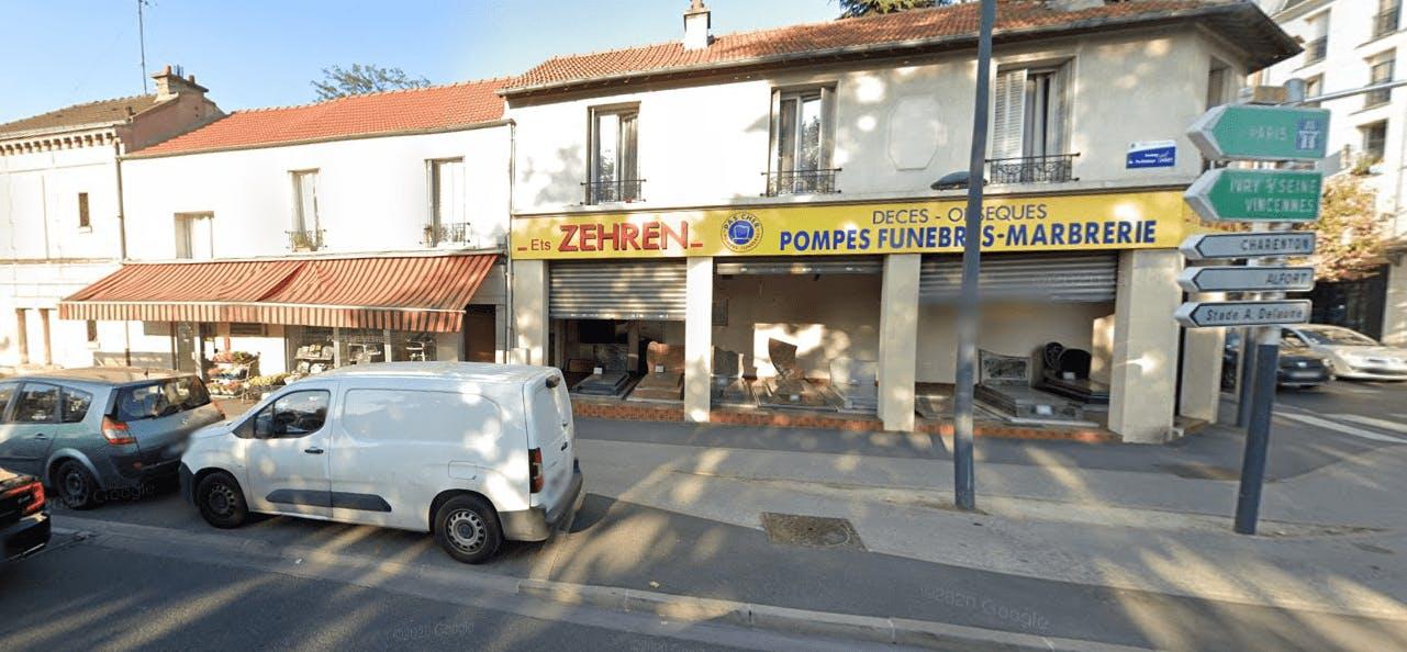 Photographie Pompes Funèbres Marbrerie ZEHREN de Maisons-Alfort