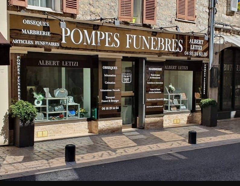 Photographies des Pompes Funèbres Albert Letizi à Vence