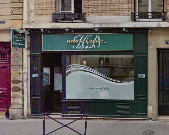 Photographies des Pompes Funèbres Henri de Borniol à Paris
