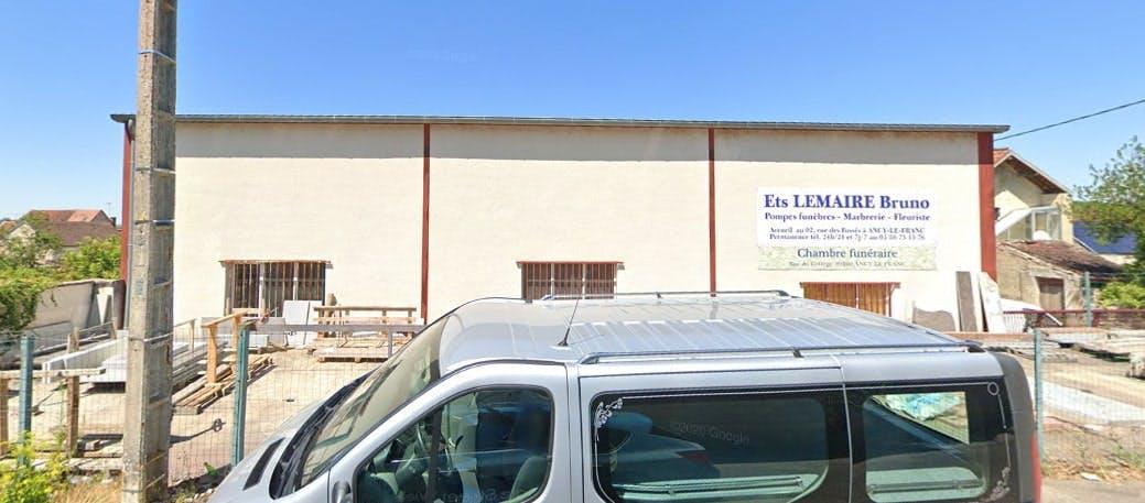 Photographies des Pompes Funebres Lemaire à Ravières