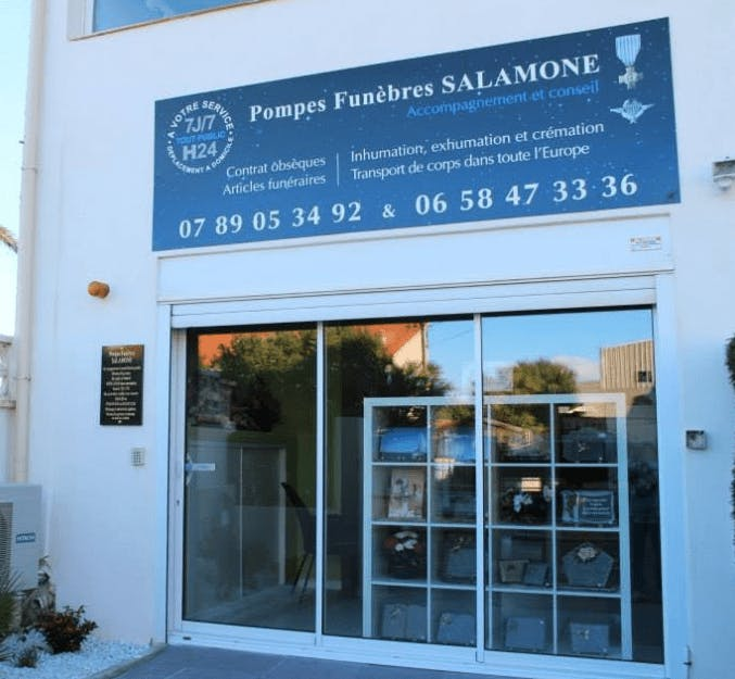 Photographie de la Pompes Funèbres Salamone au Barcarès