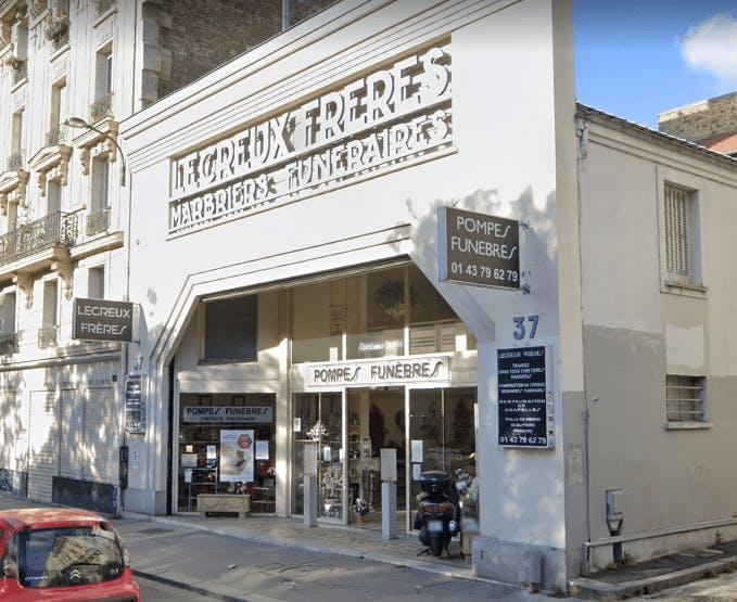 Photographie de la Pompes Funèbres Lecreux Frères à Paris