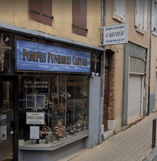 Photographie Pompes Funèbres et Marbrerie Cartier de Laragne-Montéglin