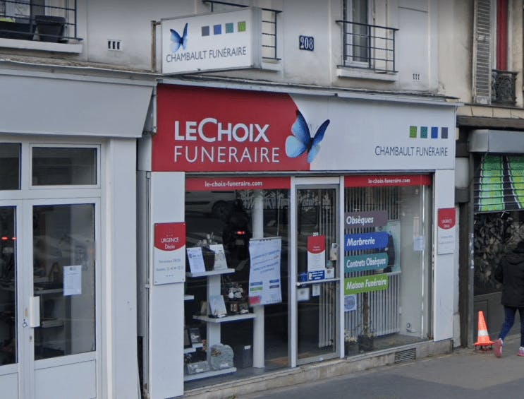 Photographie de la Pompes Funèbres Chambault à Paris