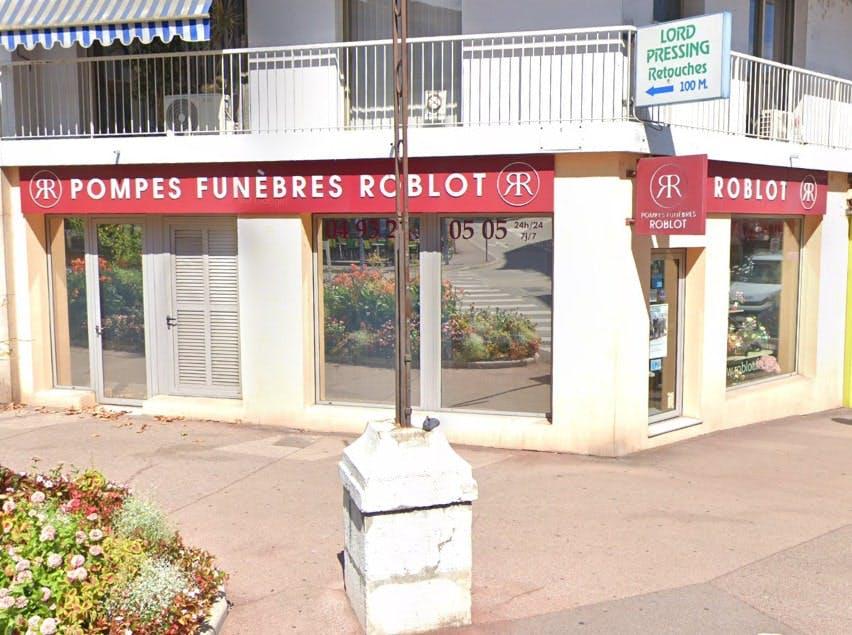 Photographies des Pompes Funèbres Roblot à Cagnes-sur-Mer